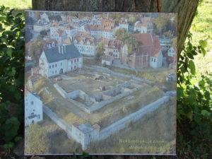 Fotka z rekonstrukcji zamku